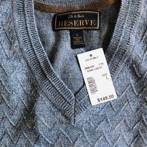 Slate blue grey wool sweater